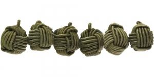 CB78 10mm Oliiviroheline põimitud paela kattega helmes