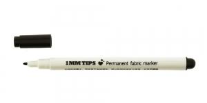 Tekstiili viltpliiats, kangamarker, püsiv/permanent, 1 mm, KL0038