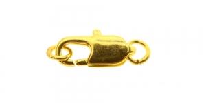 Karabiinhaak rõngastega Kuldne, 12mm, EE17
