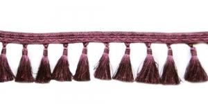 Soliidne kaunistuspael tuttidega, üldlaiusega 12cm, värv hallikaslilla