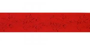 Jacquard satin ribbon, Art.38968, color No. Red
