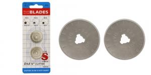 Vaihtoterät pyöröleikkureille; 2 kpl, ø28 mm, DAFA RC-3, KL0011