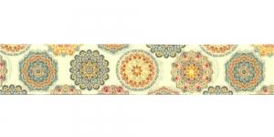 Idamaiste ornamentidega ripspael laiusega 25mm, Art.P1763, värv 87