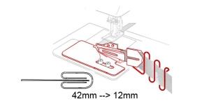 Kanti neljaks keerav kantimishuulik, 42 mm --> 12 mm, KL0711 PRO+