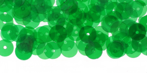 YB197b / Lamedad kettakujulised plastlitrid / Läbikumav tumeroheline AB läikega /ø6мм