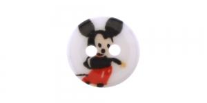 Miki hiirega valge plastiknööp ø15 mm, SD130