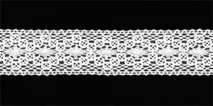 Puuvillane pits 1423-01 laiusega 3 cm, värv valge