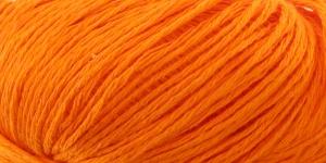 Poollinane, siidja läikega lõng Linie 320 Viscolino, ONline Värv 07 Oranž