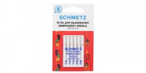 Иглы для домашних швейных машин для вышивания Embroidery, Schmetz №. 75-90