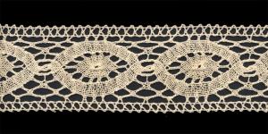 Puuvillane vahepits, Cotton (Crochet) Lace, 1685-58, kreemjas, laiusega 6cm