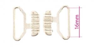 UC5, Rinnahoidja metallkinnis 16mm paelale, värv: mahe hõbedane