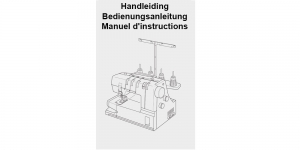 Janome 2000CPX manual NED, GER, FRA (sold only with machine kit)