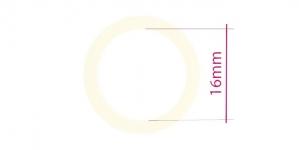 UA22, Muovirenkaat, ns bikinirenkaat tai rintaliivirenkaat, ø16mm, littea, väri: maidonvalkoinen