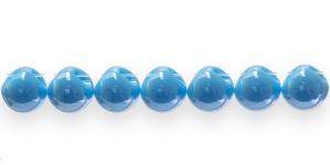 AE74 11mm Sinine ümar läbipaistmatu plasthelmes