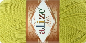 Diva Silk Effect Strech Yarn; Colour 109 (Lime Green), Alize