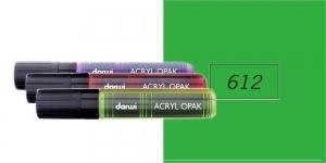 Akrüülvärviga viltpliiats, katva värviga, 15mm, 25ml, Darwi Acryl Opaque, PERMANENT GREEN 612
