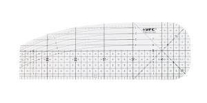 Läbikumav triikimisjoonlaud, taskujoonlaud, 30cm × 10cm, YFC YN-1030