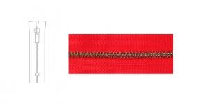 3890OX, 4mm hammastikuga metall-tõmblukk pikkusega 19cm-20cm, puhas punane, antiikpronks hammastikuga