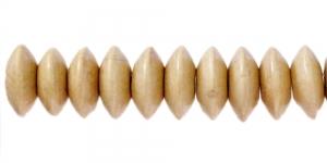 Naturaalne helebeež lapik ümara vormiga puithelmes, 13 x 6 mm, IM38A