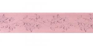 Jacquard satin ribbon, Art.38968, color No. Rose