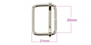 Metallist pinguti rihmale 20 mm, viimistlus: nikkel, SHP21