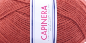 Poolvillane lõng Capinera; Värv 641 (Kahvatu helepunane), Capinera Wool Yarn; Colour 641 (Pale Light Red), Lane Cervinia
