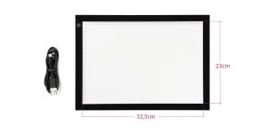 Valguslaud, LED-taustvalgustus reguleeritav, A4 mõõdus 32,5 x 23 cm, LDP-3021