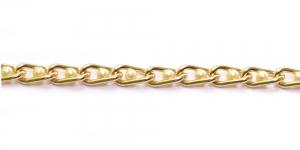 MA83 13 x 6 x 2 mm Kuldne Alumiiniumkett pärlitega
