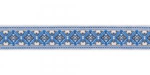 Filigraanse rombimustriga kaunistuspael 25mm, Art.25984FC, värv sini-valge