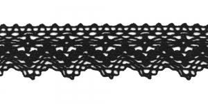 Puuvillane servapits 3121-14 laiusega 4 cm, värv must