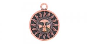 25mm Antiikvaskne, ümar aasaga medaljon, EG240