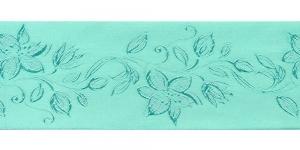 Jacquard satin ribbon, Art.64968, color No. Green