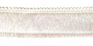 Tihe läikiv narmaspael laiusega 4,5 cm, värv nr 1, loodusvalge