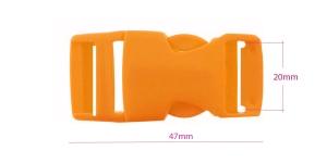 Plastikust pistlukk 47 mm x 23 mm, rihmale laiusega 20 mm, Oranž , UG8B