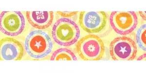 Värvilise mustriga ripspael laiusega 48mm, Manubens, Art.P1769, värv 87