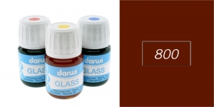 Klaasivärv Darwi Glass, 30ml, BROWN 800