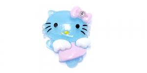 Helesinine Hello Kitty riputis / 35 x 25mm / AE93
