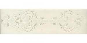 Luksuslik atlaspael sissekootud lillemustriga laiusega 64mm, Art.64969, loodusvalge
