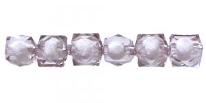 Beežikaslillakas hall valge sisuga akrüülhelmes, AA84 8mm