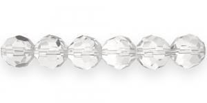Ümar tahuline klaaspärl, 14mm, Värvitu läbipaistev, KH6