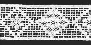Pitsinauha (puuvilla), 5752`01, 8,5cm, valkoinen
