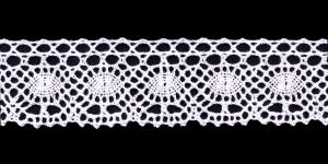 Puuvillane servapits 3612 laiusega 4 cm, Värv 1, Valge