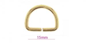 D-rõngas, poolrõngas, kuldne, 17x20 mm, SHD28