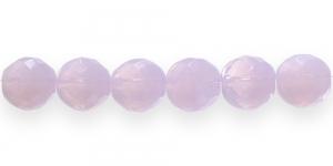 LH12A Ümar tahuline klaaspärl, Tšehhi, 14mm, Heleroosa piimjas