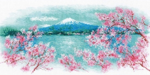 Cross-Stitch Kit Riolis, 1744 Sakura. Fuji