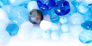 LL13 6-16mm Helesinakate erikujuliste pärlite segu