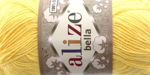 Puuvillane lõng Bella; Värv 110 (Helekollane)
