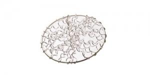 Metallist põimingdetail Hõbedane, Silver Circular Spiral Wire Charm, 40mm, EG5