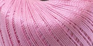 Pärlniit Perle 5 tikkimiseks ja heegeldamiseks; Värv 6312 (Tumedam roosa) / Madame Tricote