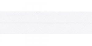 Diagonaalkant, puuvillane, 25mm, valge, värv 111